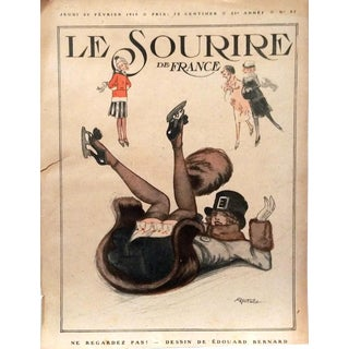 1919 Edouard Bernard Le Sourire Cover Print