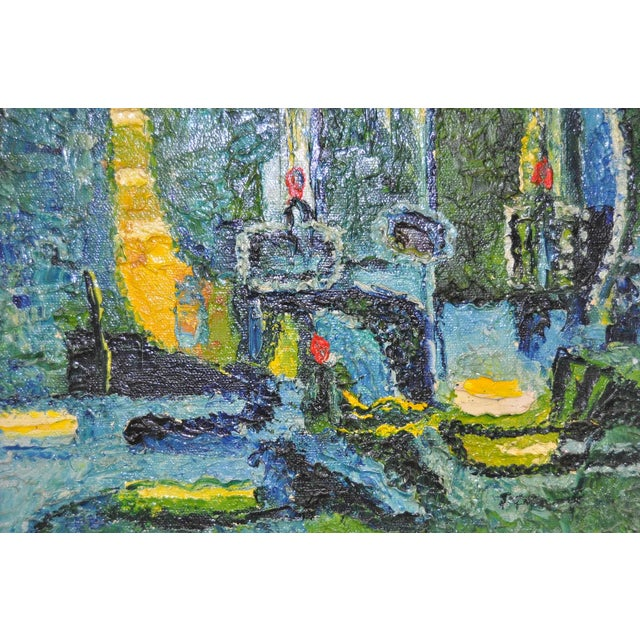 Image of Fine Impasto Abstract Oil Painting, Circa 1960