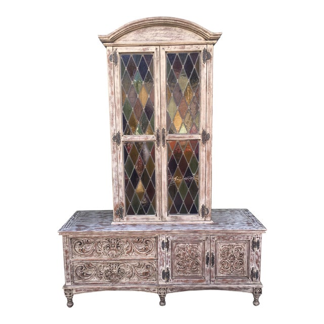 French Style Distressed Cabinet - Image 1 of 11