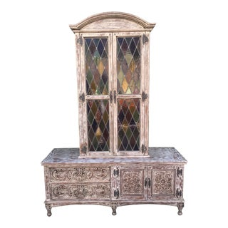 French Style Distressed Cabinet
