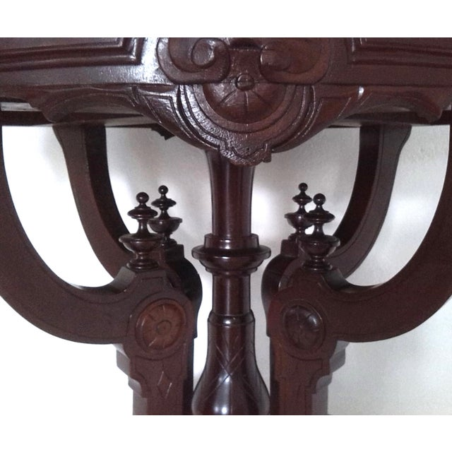 Image of Marble Top Occasional Table (Oval) on Pied-De-Biche