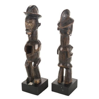 Antique African Wooden Figurines - A Pair