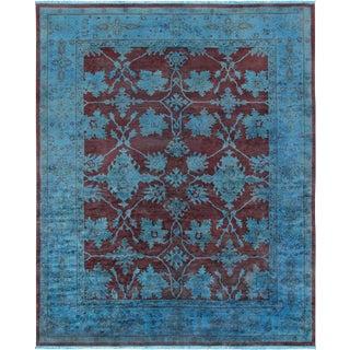 "Pasargad Persian Brown & Blue Overdye Lamb's Wool Area Rug - 9'6"" X 11'8"""