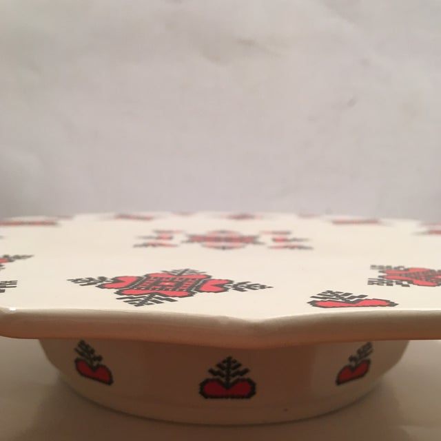 Retro Christmas Ceramic Cake or Cookie Stand - Image 8 of 8
