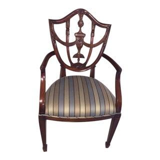 Maitland Smith Mahogany Shield Chair