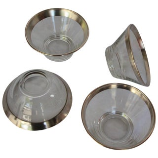 Dorothy Thorpe Silver Rim Bowls - Set of 4