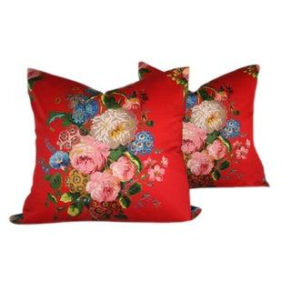 French Harmonie De Laurent Steve Fabric Pillows - A Pair