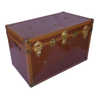 Vintage Chocolate Brown Packing Trunk