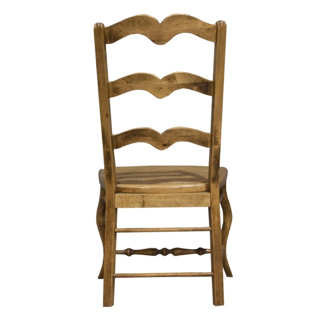 Vintage Sarreid LTD Alder Wood Ladderback Hall Chair - Image 4 of 4