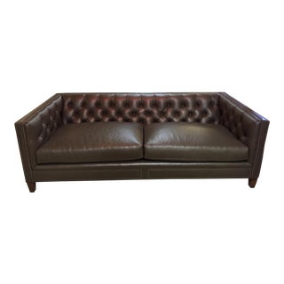 Tufted Back Leather Sofa