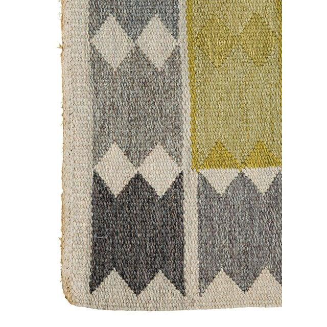 Vintage Ingrid Dessau Flat-Weave Swedish Carpet - Image 6 of 7