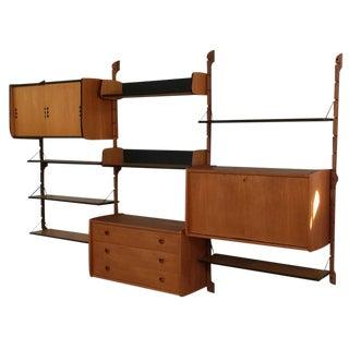 "1960s Torbjørn Afdal Scandinavian Modern Teak ""Ergo"" Modular Wall Unit System"