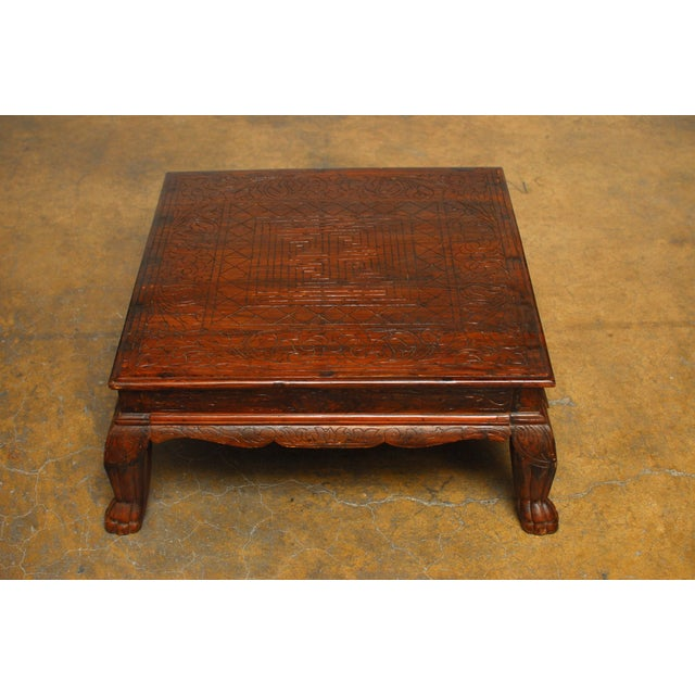 Image of Anglo Indian Carved Low Table