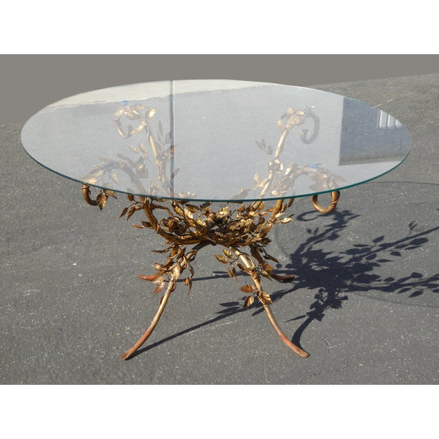 French Rococo Coffee Table: Vintage French Provincial Ornate Rococo Gold Coffee Table