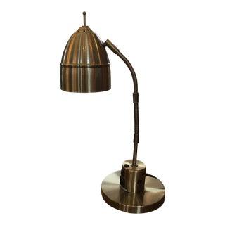 Brushed Brass Charging Desk Lamp