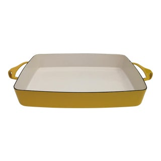 Yellow Dansk Enamel Dish