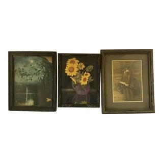 18th C. Wooden Frames - Set of 3