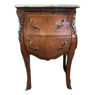French Marble & Wood Commode