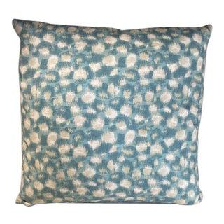Kim Salmela Aqua Leopard Print Pillow