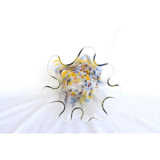 Sculptural Hand-Blown Handkerchief Vase - Image 4 of 6