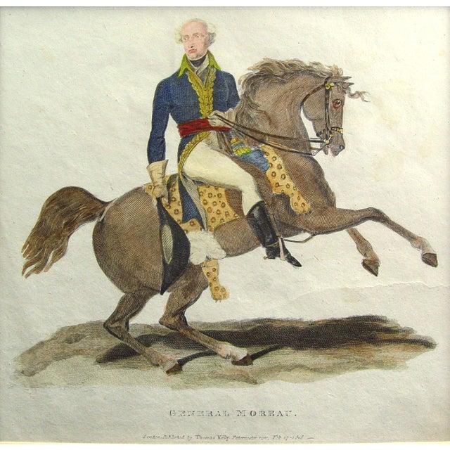 Image of Antique 1816 General Moreau Equestrian Print