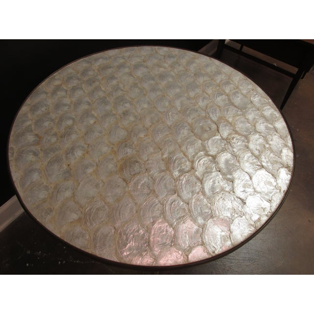 Image of Vintage Billy Haines Capiz Shell Side Table
