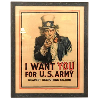 James Montgomery Flagg Uncle Sam World War I Poster