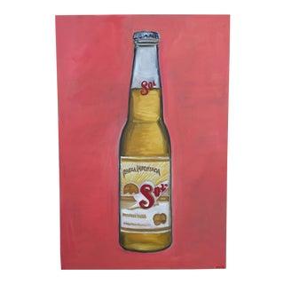 """Pop Art """"Sol Beer"""" Painting"""