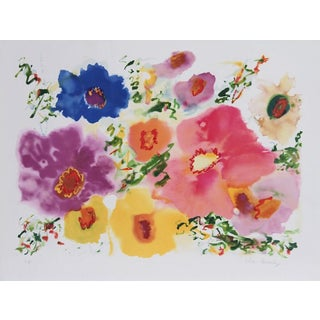 "Helen Covensky, ""Flowers Ii,"" Lithograph"
