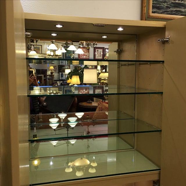 Custom Art Deco Gold & Ivory Bar or Display - Image 9 of 10