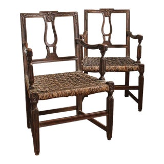 Early 19th Century French Country Armchairs - A Pair