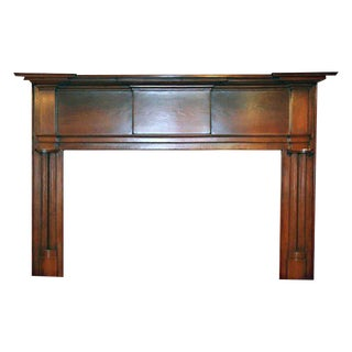 19th Century American Pine Wooden Mantel