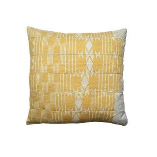 Vintage Yellow Aso Oke Pillow