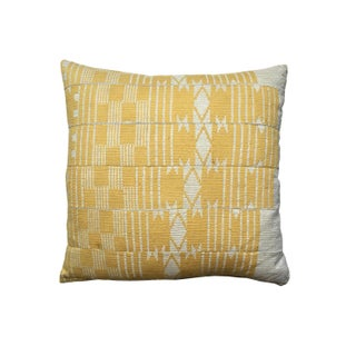 Vintage Yellow Aso Oke Pillow