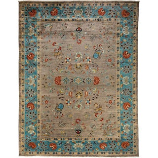 """Ziegler, Hand Knotted Area Rug - 9' 0"""" x 12' 2"""""""