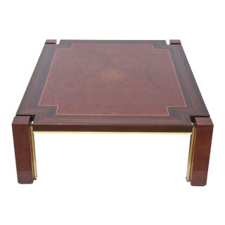 Italian Modern Ebony de Macassar, Walnut, Mahogany and Brass Low Table