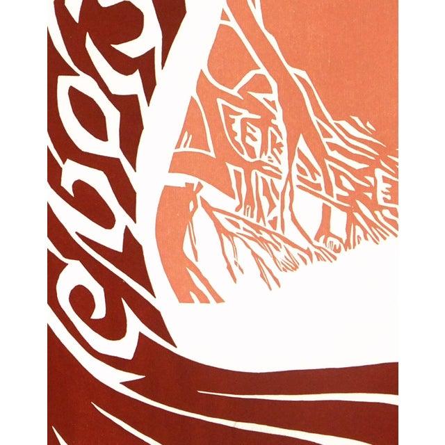 1984 Vintage 'Le Bois Gravé' Woodblock Print - Image 2 of 3