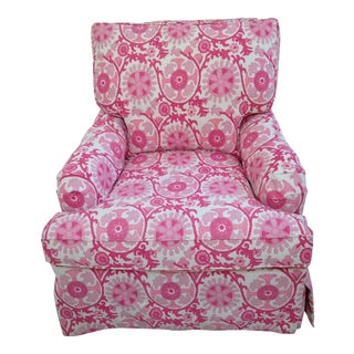 Lee Industries Custom Milly Pink Suzani Print Chair