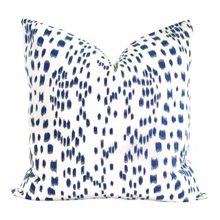 """Brunschwig Fils Les Touches Blue and White Decorative Pillow Cover - 20"""" x 20"""""""