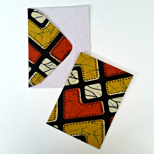 African Wax Fabric Greeting Cards - Set of 10 - Image 3 of 6