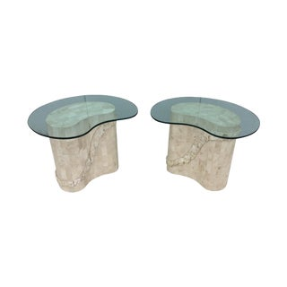 Maitland Smith Tesselated Stone Side Table - Pair