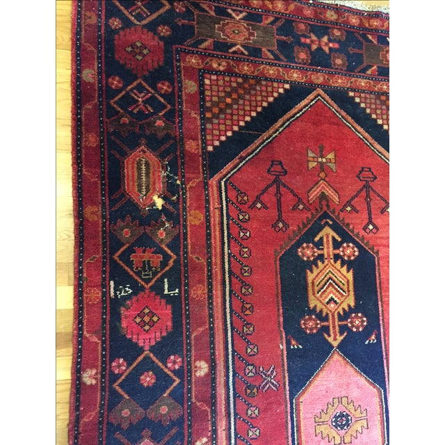 """Vintage Hand Knotted Turkish Rug - 4'11"""" x 8'11"""" - Image 4 of 10"""