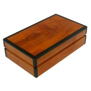 Decorative Juniper & Ebony Wood Box