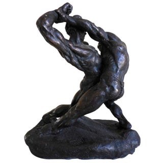 Wrestlers Sculpture by Thomas Holland