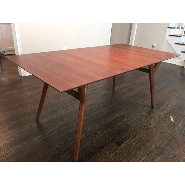mid century expandable dining room table chairish