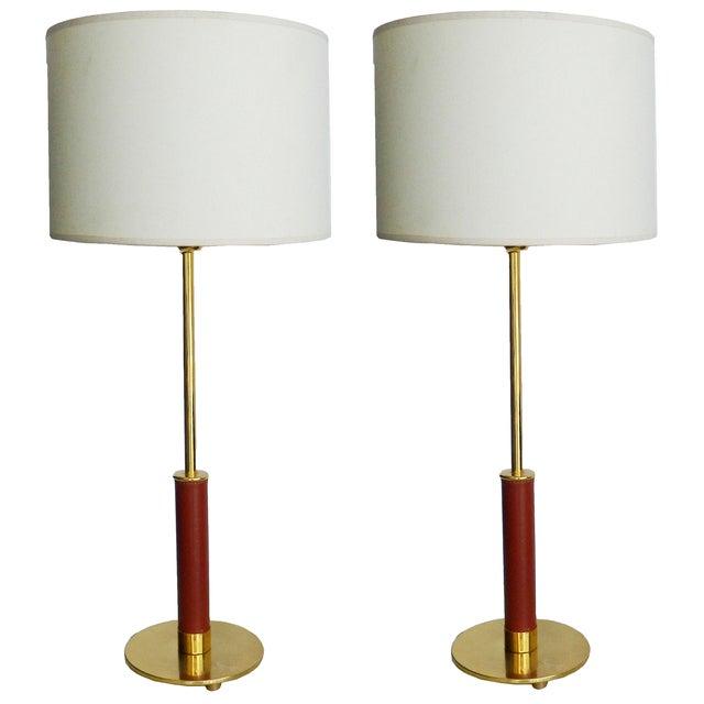 Image of Maison Lancel Vintage 1970s Table Lamps - A Pair
