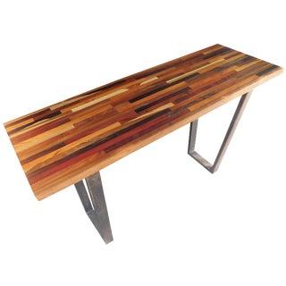Mixed Wood Inlay Console