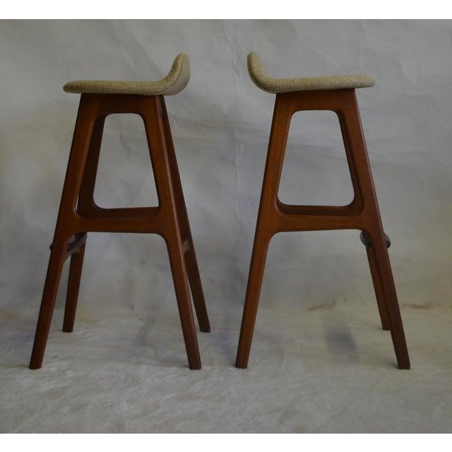 Eric Buch Teak Bar Stools - A Pair - Image 3 of 5