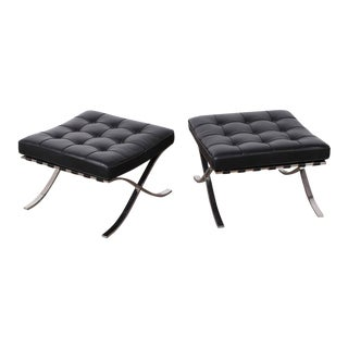 Set of Four Barcelona Ottomans by Mies van der Rohe for Knoll