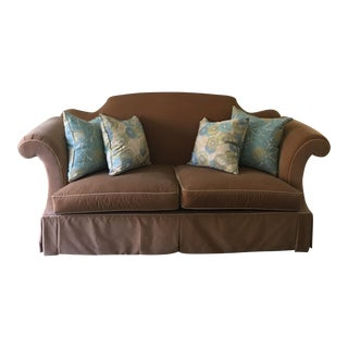 Classic Century Camel Back Butterscotch Velvet Sofa